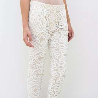 Lover The Label Lace Cream Pants Size 8