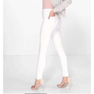 Sz 8 Isla High Waisted White Jeans
