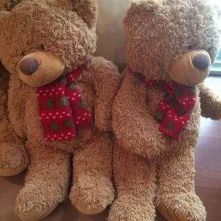 24吋 圍巾熊