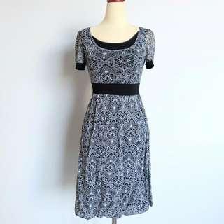 Pattern Black Dress