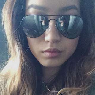 Aviator Sunglasses. Silver Mirrored With Black Detail.