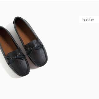 Zara Embossed Leather Loafer