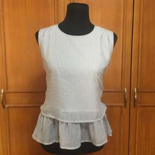 (Japan) Stripped Sleeveless Top