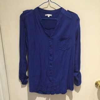Valley girl Dark Blue Utility Shirt