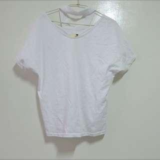 繞頸白T Shirt