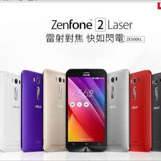 Asus ZenFone2 Laser5寸 四核心 銀色16G