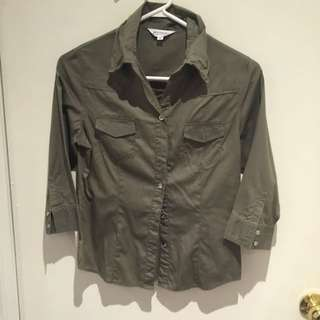 Military Green Utility Shirt