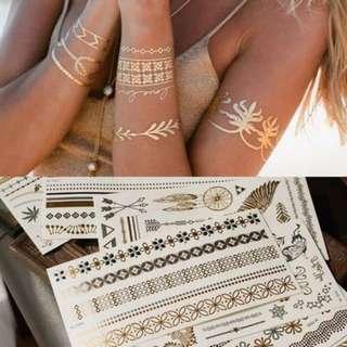 燙金紋身貼 防水 閃亮 印水紙