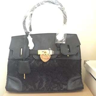 黑色蕾絲手提包
