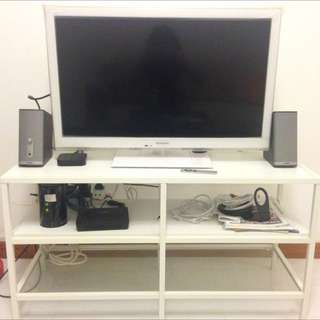 Used Ikea VITTSJO TV Console - White