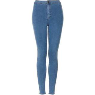 topshop Joni jeans jeggings in baby blue wash