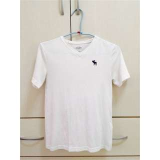 Abercrombie Fitch (AF) 白色logo Tee
