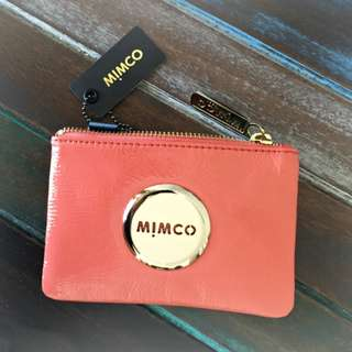 BRAND NEW WITH TAG MIMCO FLAMINGO GOLD BADGE POUCH