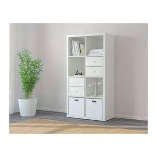 [RSVRD] 1 mth old Ikea White Kallax 2x4 Shelf