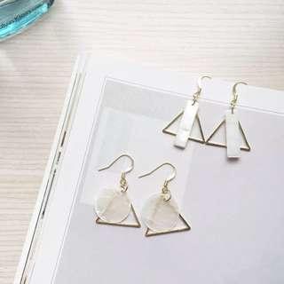 歐美/韓系珍珠貝殼耳環