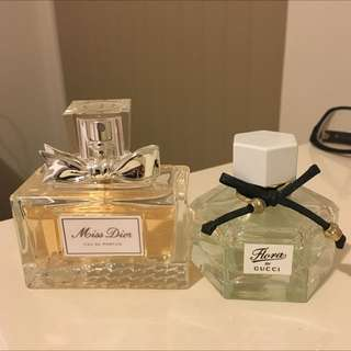 Christian Dior miss Dior 50mls and Gucci floral 30mls Bundle