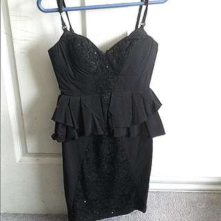 FURTHER PRICE DROP! Short Black Dress Size 8