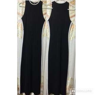 Long Black White Dress