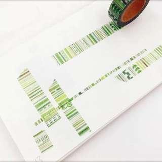 紙膠帶 分裝 綠色鉛筆