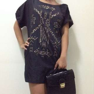 Apostrophe Gold Studded Tunic