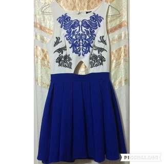 Unique Embroidered Flare Dress