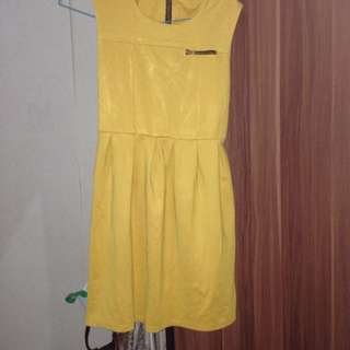 no name yellow brown dress