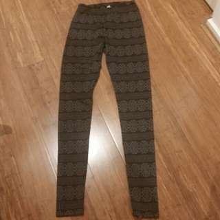 Dotti Black And Grey Leggings -Size 8