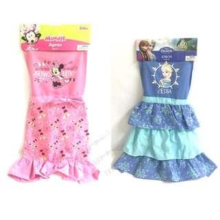 美國 正品迪士尼 米妮兒童圍裙