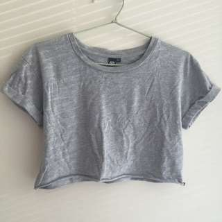 Glassons Soft Grey Crop Top