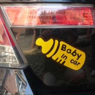 baby onboard car sticker