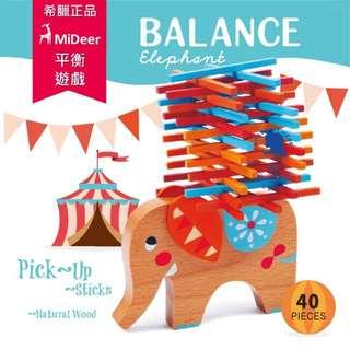 幼兒啟發玩具-平衡遊戲-疊大象 Mideer 希臘正品