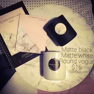 Matte Black Matte White Chrome Silver Round Vogue