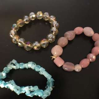Three Bead Braclets