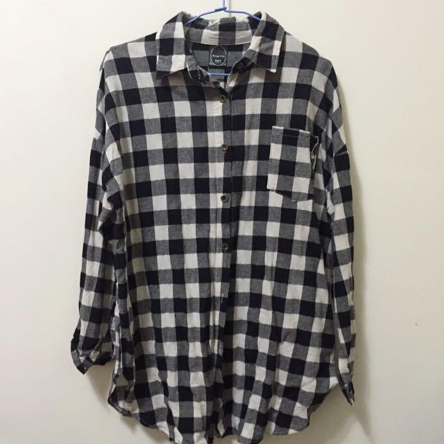 黑白格襯衫