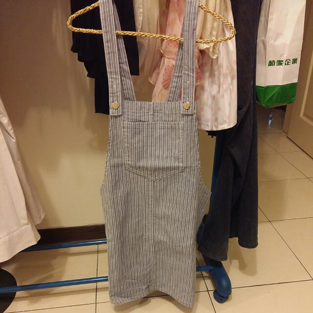 全新條紋吊帶裙
