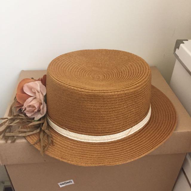 (保留中)側邊花多編織圓帽