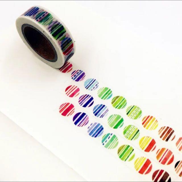 紙膠帶 分裝 條紋點點