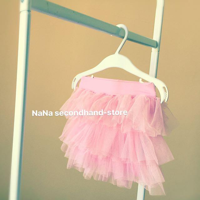 女寶寶 baby粉紅色澎澎裙 褲裙 內搭褲(3-6m)近全新