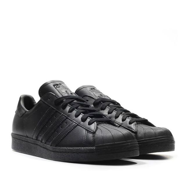 buy online e4cc1 a217a adidas Superstar Leather Triple Black Size 7 8 9