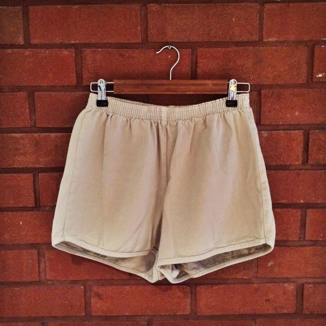 AMERICAN APPAREL Nude Denim Shorts