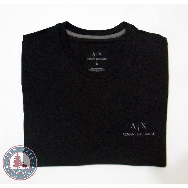 Armani Exchange 黑色素面小Logo短T (全新正品 美國帶回)