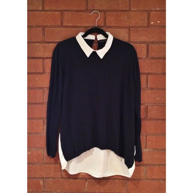 ATMOSPHERE Collared Sweater