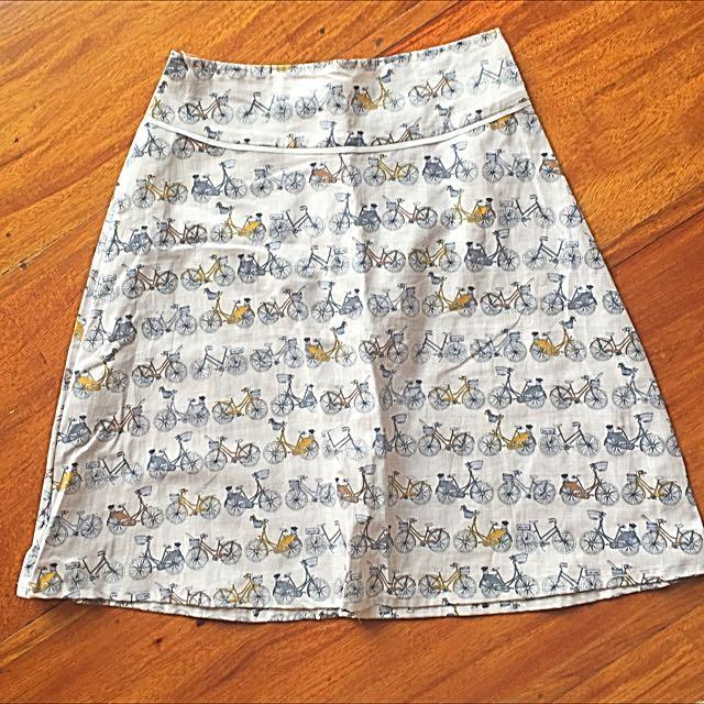 Bike Print Skirt