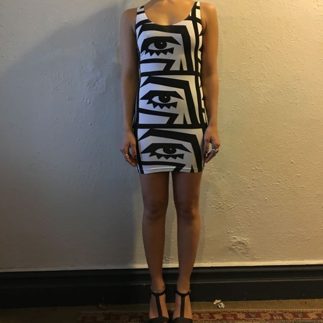 Black And White American Apparel Dress
