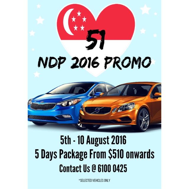 Car Rental National Day Package