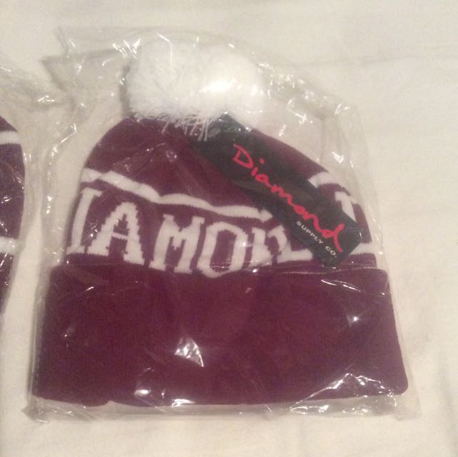 Diamond Supply Co. Beanie Burgundy