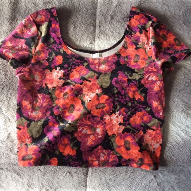 Floral Garage Crop Top