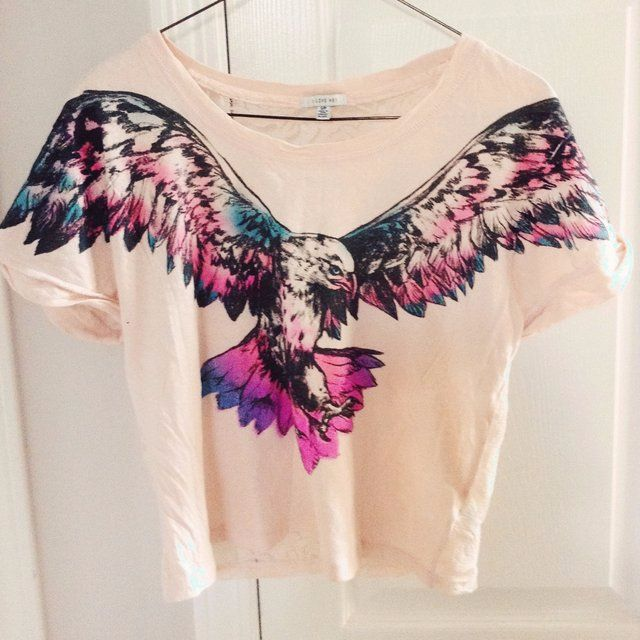 Forever 21 Cropped Eagle Tee
