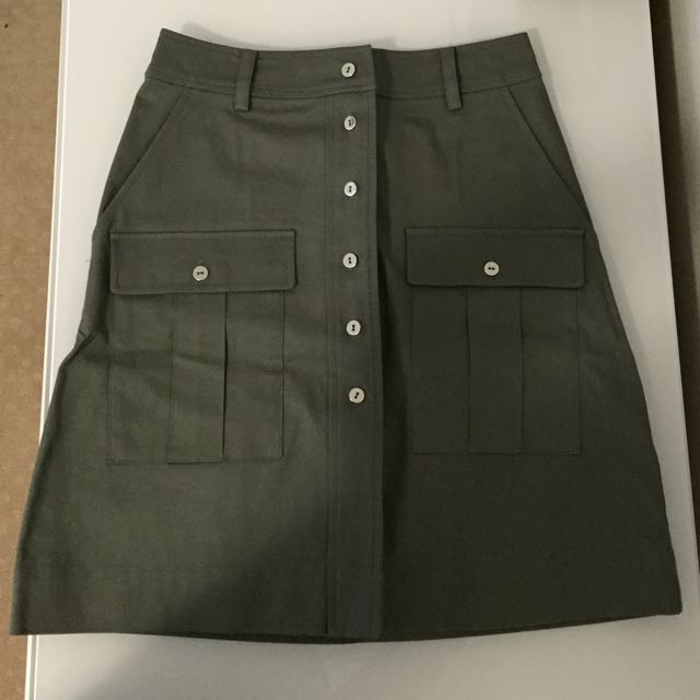 Forever New A-line Khaki Skirt