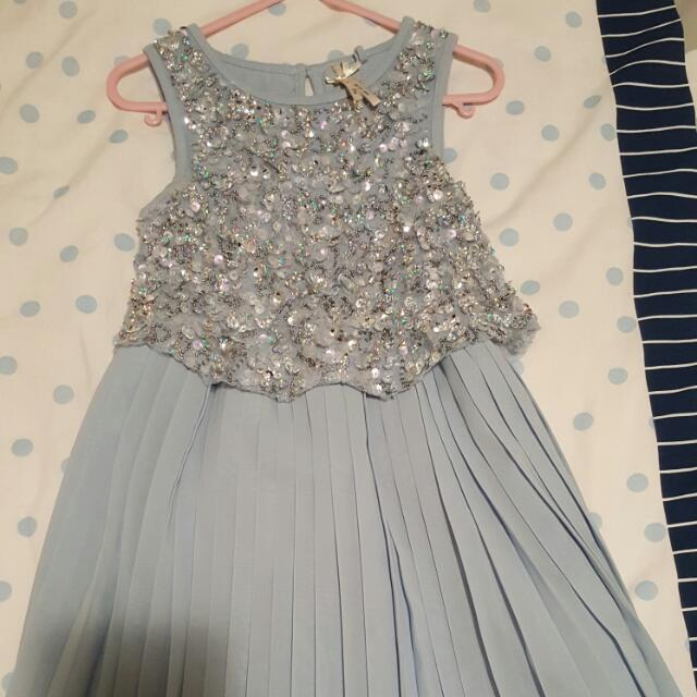 Girls Dress Size 4 Light Blue